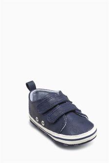 Blue Pram Shoes (Younger Boys)