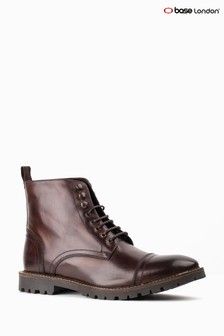 Base London Brown Siege Toe Cap Boot