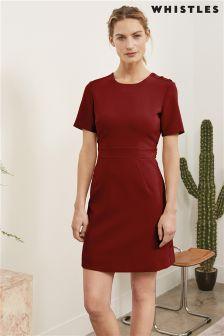 Whistles Burgundy Ella A-Line Dress