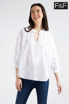 Whistles Chambray Lila Bardot Linen Top