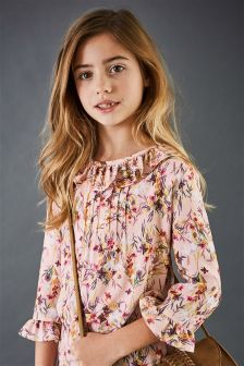 Printed Frill Blouse (3-16yrs)