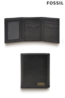 Black Fossil™ Leather Wallet