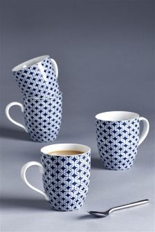 Set Of 4 Horizon Mugs