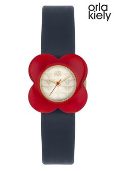 Orla Kiely Navy Flower Watch