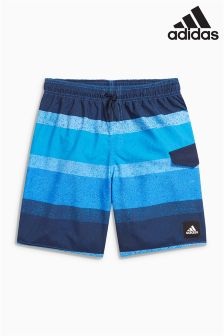adidas Blue Stripe Swim Short