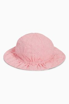 Broderie Sun Hat (Younger Girls)