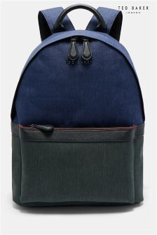 Ted Baker Navy Zirabi Contrast Trim Backpack