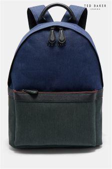 Ted Baker Navy Zirabi Contrast Trim Backpack