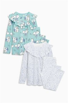 Frill Pyjamas Two Pack (9mths-8yrs)