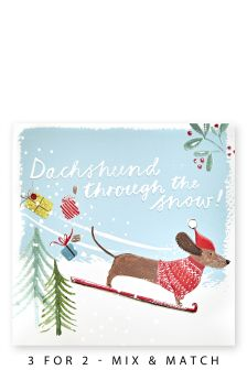 10 Dachshund Through The Snow Cards