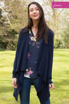 Joules Eriesta French Navy Longline Waterfall Cardigan
