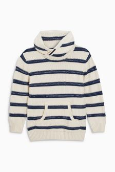 Stripe Cowl Neck Jumper (3mths-6yrs)