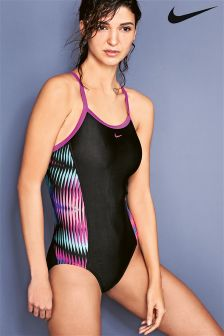 Nike Swim Lingerie Tank Black Swimsuit
