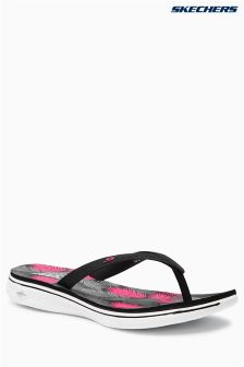 Skechers® Black H2 GoGa Moulded Toe Post Sandal