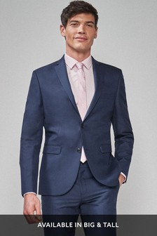 Mens Blue Slim Fit Suits | Textured Blue Slim Fit Suits | Next UK