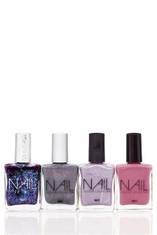 Set Of 4 Purple Nail Polish Collection