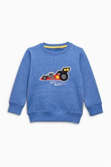 Car Appliqué Crew (3mths-6yrs)