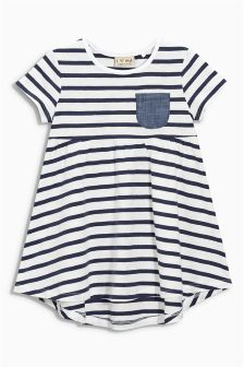 Navy/White Stripe Tunic (3mths-6yrs)