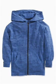 Longline Zip Through Hoody (3-16yrs)