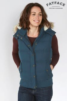 Fat Face Slate Blue Heritage Gilet
