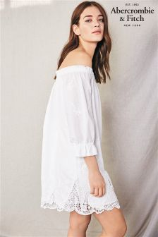 Abercrombie & Fitch White Off The Shoulder Dress