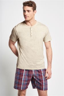 Madras Check Woven Short Set