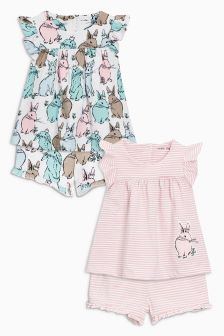 Bunny Short Pyjamas Two Pack (9mths-8yrs)