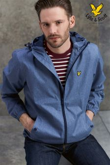 Lyle & Scott Mid Blue Lightweight Hooded Jacket
