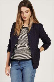 Flannel Stripe Military Jacket