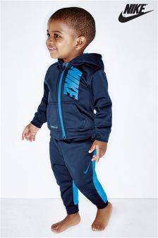 Nike Navy Therma Hooded Tracksuit