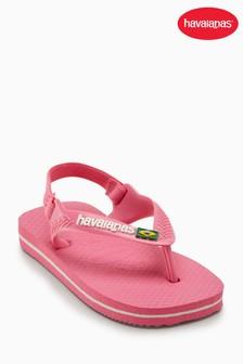 Havaianas® Shocking Pink Baby Brasil Flip Flop