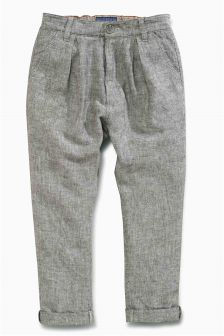 Textured Pleat Trousers (3-16yrs)
