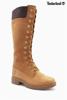 Timberland® Tan Premium 14 Side Zip Waterproof Lace Up Boot