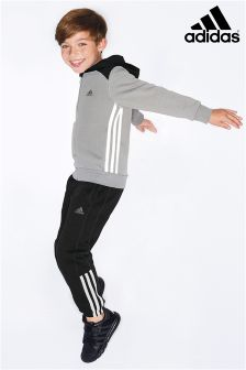 adidas Black/Grey Essential Tracksuit