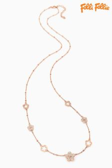 Folli Follie Rose Gold Winter Wonder Chain Necklace