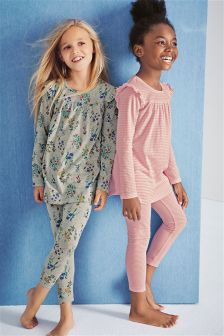 Frill Sleeve Pyjamas Two Pack (3-16yrs)