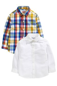 2 Pack Long Sleeve Shirt (3mths-6yrs)