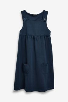 Pocket Jersey Pinafore Dress (3-14yrs)