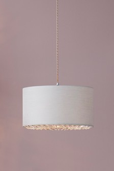 Halo Easy Fit Pendant With Clear Diffuser Detail