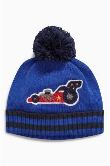 Car Bobble Beanie (Younger Boys)