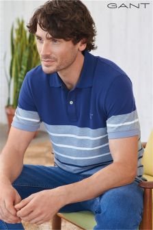 Gant Blue/Grey Striped Poloshirt