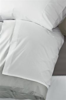 300 Thread Count Soft & Silky Egyptian Cotton White Flat Sheet