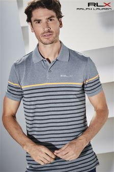 Ralph Lauren RLX Golf Grey Pique Stripe Polo