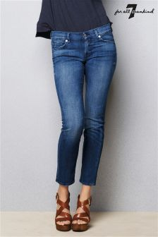 7 For All Mankind Rozie Crop Skinny Fit Jean