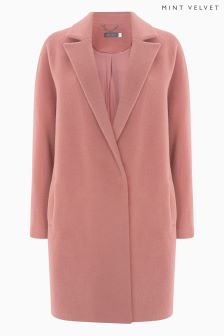 Mint Velvet Pink Formal Lux Coat