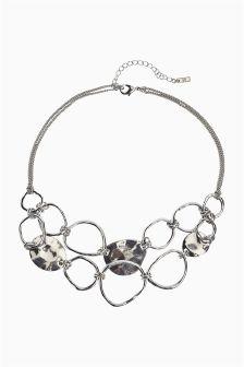 Abstract Circle Short Necklace