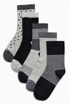 Mono Socks Five Pack (Older Boys)