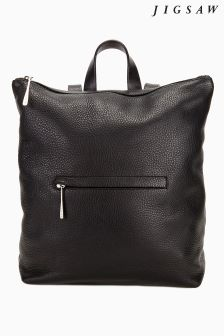 Jigsaw Black Stevie Zip Top Backpack