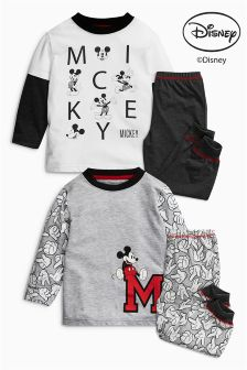 Mickey Mouse™ Pyjamas Two Pack (9mths-6yrs)