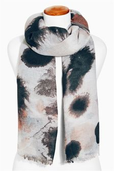 Black Animal Print Scarf